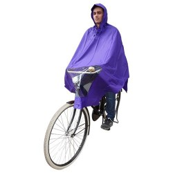 Hooodie Poncho Uno-Dimensione-Fits-All Viola